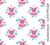 seamless pattern with cute... | Shutterstock .eps vector #1194799168