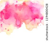brush shades pink watercolor on ...   Shutterstock . vector #1194800428
