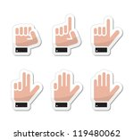 counting hand signs as labels   ... | Shutterstock .eps vector #119480062