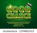 vector casino sign good chance. ... | Shutterstock .eps vector #1194801415