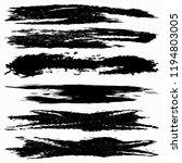 set of grunge brush strokes... | Shutterstock . vector #1194803005