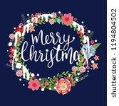 merry christmas  calligraphy... | Shutterstock .eps vector #1194804502