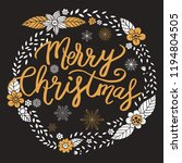 merry christmas  calligraphy... | Shutterstock .eps vector #1194804505