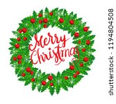 merry christmas  calligraphy... | Shutterstock .eps vector #1194804508
