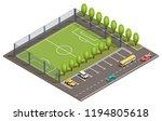 vector 3d isometric field for... | Shutterstock .eps vector #1194805618
