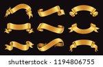 golden ribbon banners.set of... | Shutterstock .eps vector #1194806755