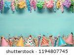 birthday party decoration... | Shutterstock . vector #1194807745