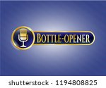 golden emblem with microphone... | Shutterstock .eps vector #1194808825
