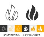 fire black linear and... | Shutterstock .eps vector #1194809095
