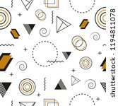 seamless pattern with geometric ... | Shutterstock .eps vector #1194811078