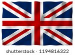 waving flag of the great... | Shutterstock . vector #1194816322