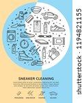 modern sneaker cleaning icon... | Shutterstock .eps vector #1194821155