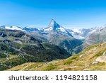 beautiful mountain landscape... | Shutterstock . vector #1194821158
