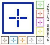 precise cursor flat color icons ... | Shutterstock .eps vector #1194823462