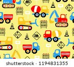 vector of seamless pattern with ... | Shutterstock .eps vector #1194831355