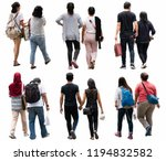 asia people walking isolated. | Shutterstock . vector #1194832582