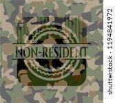 non resident camouflage emblem | Shutterstock .eps vector #1194841972