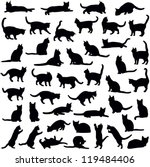Stock vector cats collection vector silhouette 119484406