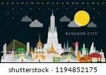 full moon night. bangkok in... | Shutterstock .eps vector #1194852175