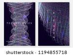 deep learning background.... | Shutterstock .eps vector #1194855718