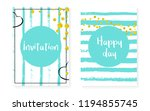 bridal shower set with dots and ... | Shutterstock .eps vector #1194855745