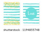 bridal shower set with dots and ... | Shutterstock .eps vector #1194855748