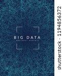 quantum computing background.... | Shutterstock .eps vector #1194856372