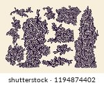 abstract design elements set ... | Shutterstock .eps vector #1194874402