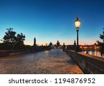 prague  panoramic image of... | Shutterstock . vector #1194876952