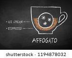 vector chalk drawn sketch of... | Shutterstock .eps vector #1194878032