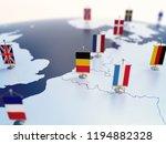 flag of belgium in focus among... | Shutterstock . vector #1194882328