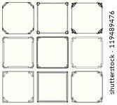 vector decorative frames  set... | Shutterstock .eps vector #119489476