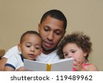 reading two generation family... | Shutterstock . vector #119489962