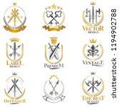 vintage weapon emblems set.... | Shutterstock .eps vector #1194902788