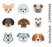 cute dogs on white background.... | Shutterstock .eps vector #1194904468