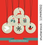 merry christmas sale set tags... | Shutterstock .eps vector #119490502
