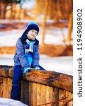 happy cute boy outdoor in the... | Shutterstock . vector #1194908902