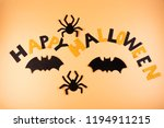 a happy halloween sign created... | Shutterstock . vector #1194911215