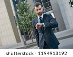 handsome bearded businessman in ... | Shutterstock . vector #1194913192