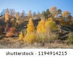 autumn landscape. high hill... | Shutterstock . vector #1194914215