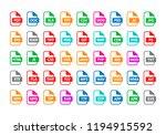 vector illustration set of... | Shutterstock .eps vector #1194915592
