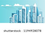 urban landscape with... | Shutterstock .eps vector #1194928078