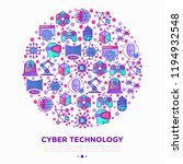 cyber technology concept in... | Shutterstock .eps vector #1194932548