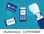 contactless payment set. wifi...   Shutterstock .eps vector #1194940885