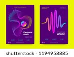 music wave poster. party flyer... | Shutterstock .eps vector #1194958885