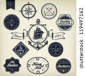 set of vintage retro nautical... | Shutterstock .eps vector #119497162