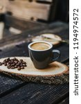 cappuccino or latte with frothy ... | Shutterstock . vector #1194974572