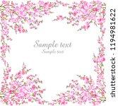 floral frame.  design element... | Shutterstock . vector #1194981622