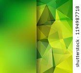 polygonal green vector... | Shutterstock .eps vector #1194987718