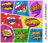 comic bright template with... | Shutterstock .eps vector #1194993895